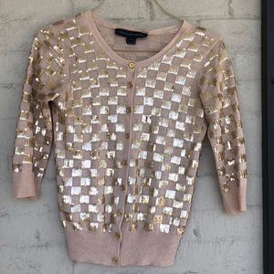 French Connection checkerboard sequined sweater